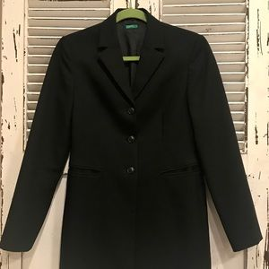 MADE IN ITALY OF BENETTON Fitted black blazer